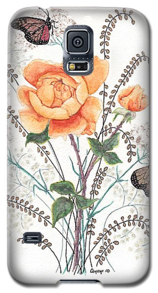 Galaxy S5 Case featuring the painting As I Ride The Butterfly by Stanza Widen