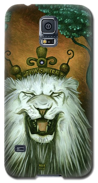 Galaxy S5 Case featuring the painting As The Lion Laughs by Leah Saulnier The Painting Maniac