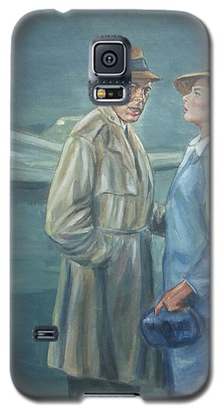 Galaxy S5 Case featuring the painting As Time Goes By by Bryan Bustard