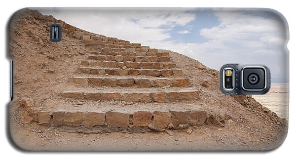 Galaxy S5 Case featuring the photograph Stairway To Heaven - Masada, Judean Desert, Israel by Yoel Koskas