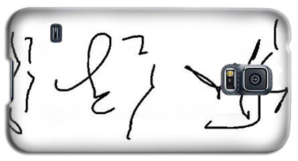 Asemic Writing 02 Galaxy S5 Case