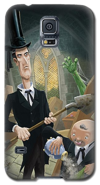 Galaxy S5 Case featuring the digital art Ashes Fun In The Funeral Crypt by Martin Davey