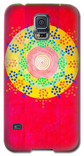 Galaxy S5 Case featuring the painting Asia Sun by Thomas Gronowski