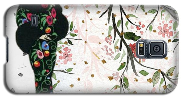 Asian Art Deco Beauty Galaxy S5 Case
