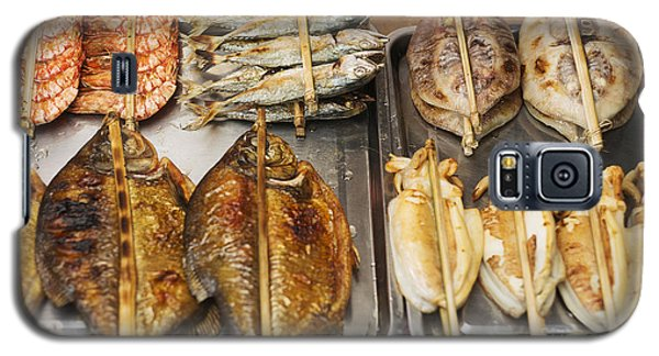 Asian Grilled Barbecued Seafood In Kep Market Cambodia Galaxy S5 Case