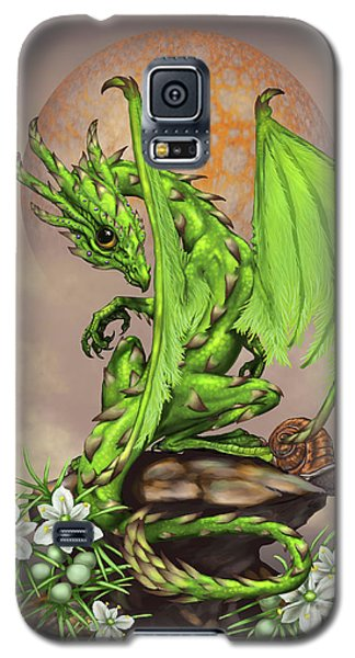 Galaxy S5 Case featuring the digital art Asparagus Dragon by Stanley Morrison