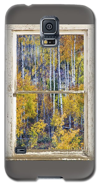 Aspen Tree Magic Cottonwood Pass White Farm House Window Art Galaxy S5 Case