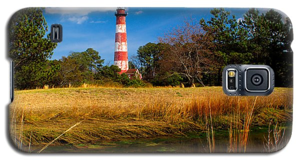 Assateague Lighthouse Reflection Galaxy S5 Case