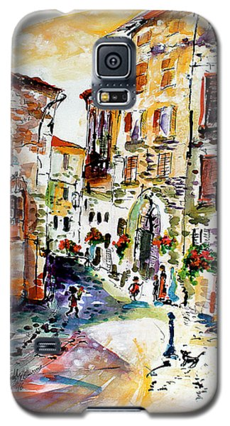 Assisi Italy Old Town Watercolor Galaxy S5 Case