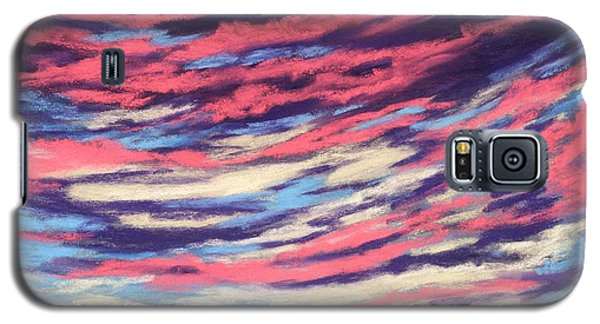 Galaxy S5 Case featuring the painting Associations - Sky And Clouds Collection by Anastasiya Malakhova