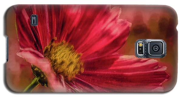Aster Red Painterly #h1 Galaxy S5 Case