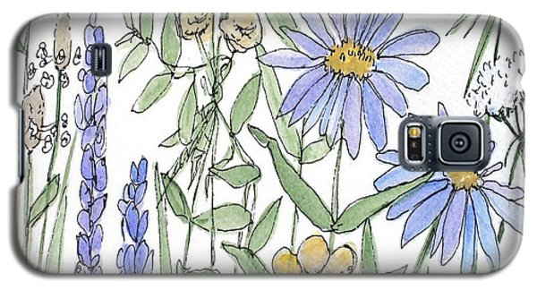 Asters And Wildflowers Galaxy S5 Case