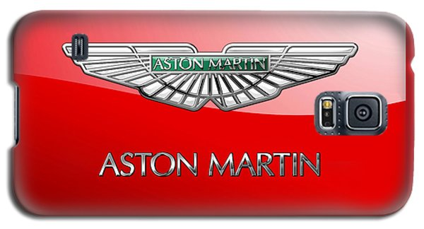Aston Martin - 3 D Badge On Red Galaxy S5 Case