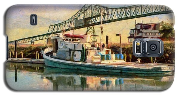 Galaxy S5 Case featuring the painting Astoria Waterfront, Scene 1 by Jeff Kolker
