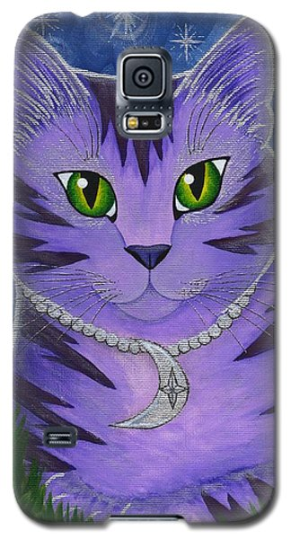 Astra Celestial Moon Cat Galaxy S5 Case