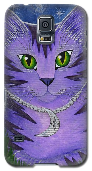 Astra Celestial Moon Cat Galaxy S5 Case by Carrie Hawks