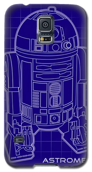 Star Wars Galaxy S5 Case - Astromech Blueprint by Edward Draganski