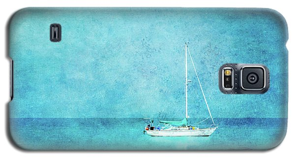 Galaxy S5 Case featuring the mixed media At Anchor by Betty LaRue
