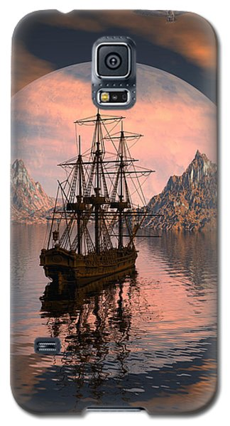 Galaxy S5 Case featuring the digital art At Anchor by Claude McCoy