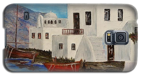 Galaxy S5 Case featuring the painting At Home In Greece by Marilyn  McNish
