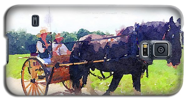 Horse And Buggy At Mount Vernon Galaxy S5 Case