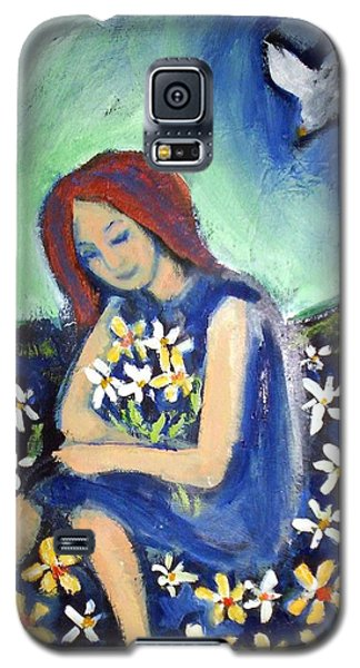 Galaxy S5 Case featuring the painting At Peace by Winsome Gunning
