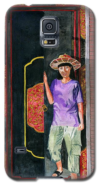 Galaxy S5 Case featuring the painting At Puri Kelapa by Melly Terpening