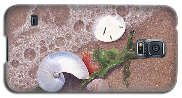 Galaxy S5 Case featuring the painting At Shore's Edge by Cindy Lee Longhini
