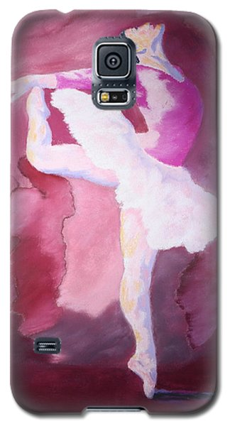 Galaxy S5 Case featuring the painting At The Ballet by Nancy Jolley