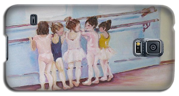 Galaxy S5 Case featuring the painting At The Barre by Julie Todd-Cundiff