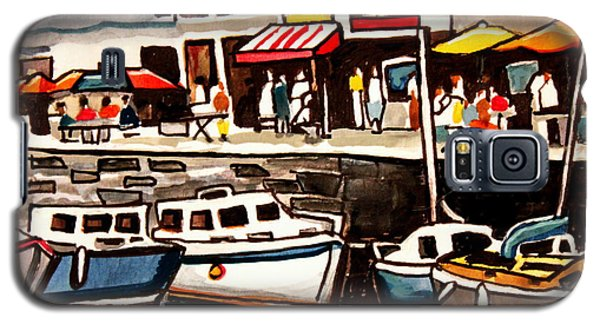 At The Cafe Galaxy S5 Case by Elizabeth Robinette Tyndall