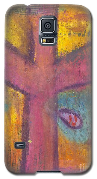 Galaxy S5 Case featuring the mixed media At The Cross by Angela L Walker