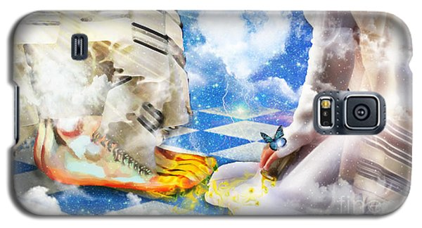 At The Feet Of Jesus Galaxy S5 Case by Dolores Develde