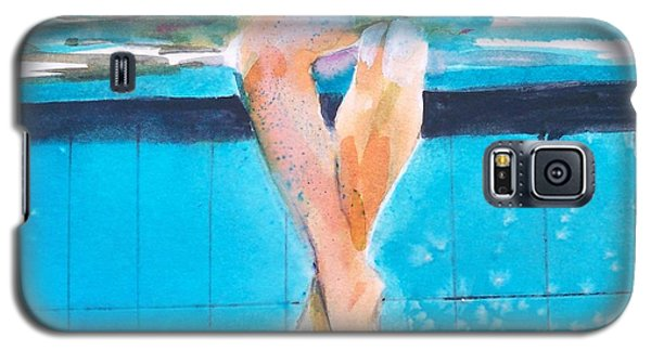 Galaxy S5 Case featuring the painting At The Pool by Ed  Heaton