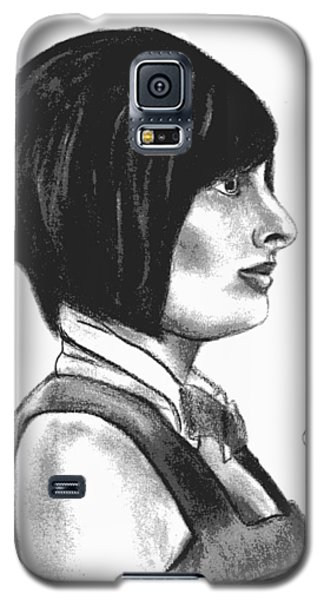At Your Service - Bartender Art - Charcoal Drawing Illustration By Ai P. Nilson  Galaxy S5 Case