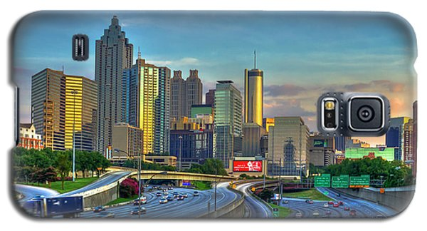 Atlanta Coca-cola Sunset Reflections Art Galaxy S5 Case