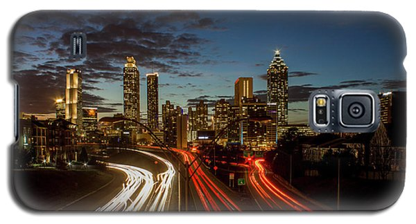 Galaxy S5 Case featuring the photograph Atlanta Downtown Infusion Atlanta Sunset Cityscapes Art by Reid Callaway