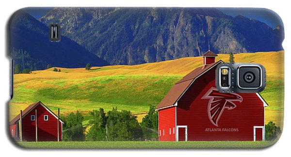 Galaxy S5 Case featuring the photograph Atlanta Falcons Barn by Movie Poster Prints