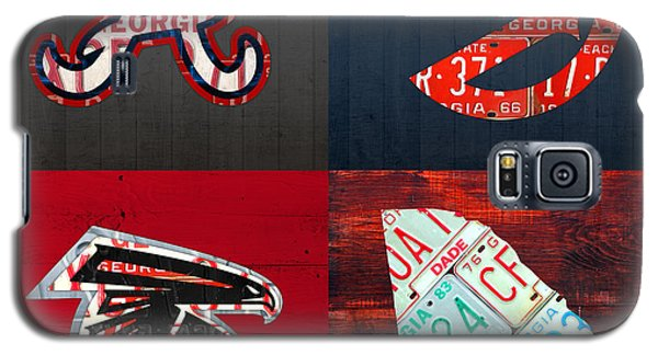 Hawk Galaxy S5 Case - Atlanta Sports Fan Recycled Vintage Georgia License Plate Art Braves Hawks Falcons Plus State Map by Design Turnpike