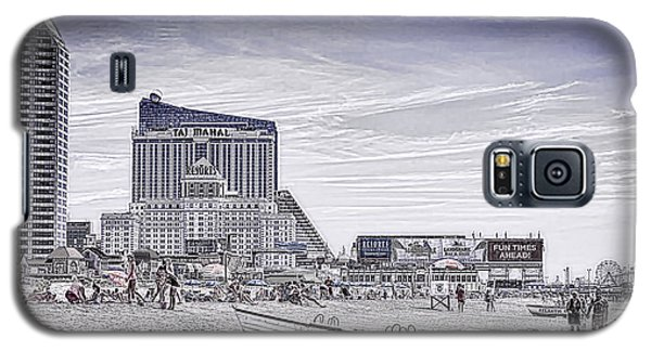 Galaxy S5 Case featuring the photograph Atlantic City by Linda Constant