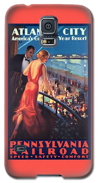 Atlantinc City - America's Great All Year Resort - Vintage Poster Restored Galaxy S5 Case