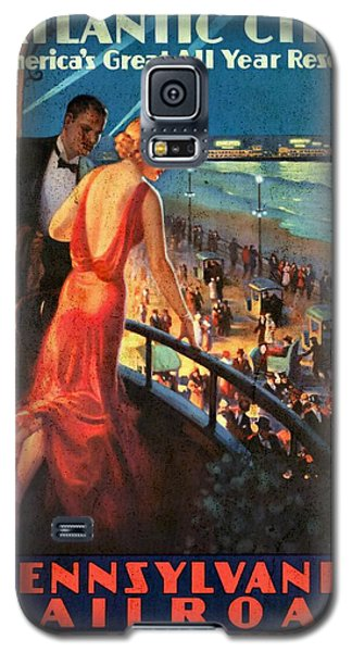 Atlantinc City - America's Great All Year Resort - Vintage Poster Vintagelized Galaxy S5 Case
