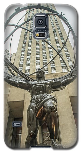 Atlas Rockefeller Center Galaxy S5 Case by Timothy Lowry