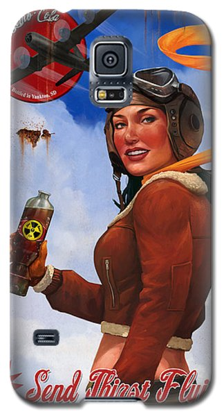 Galaxy S5 Case featuring the digital art Atom Bomb Cola Send Thirst Flying by Steve Goad