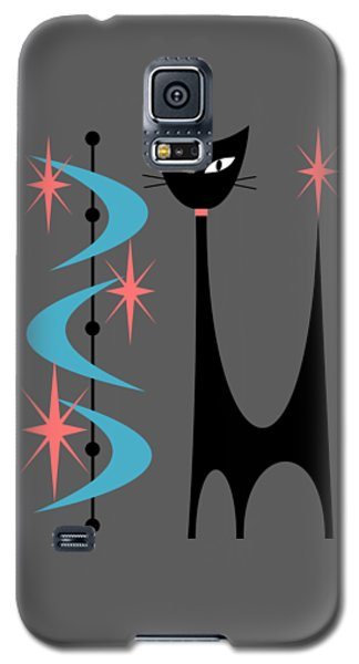 Atomic Cat Turquoise And Pink  Galaxy S5 Case