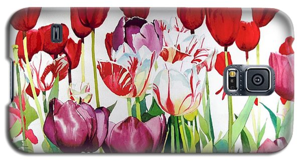 Galaxy S5 Case featuring the painting Attention by Elizabeth Carr