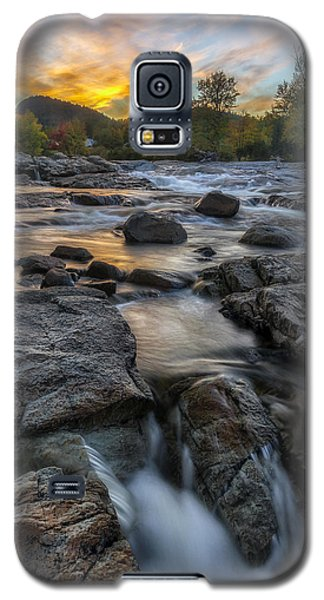 Galaxy S5 Case featuring the photograph Auasble River Sunset by Mark Papke