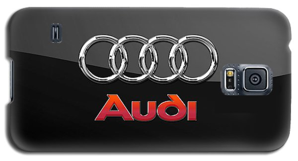 Audi 3 D Badge On Black Galaxy S5 Case