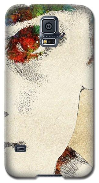 Audrey Half Face Portrait Galaxy S5 Case