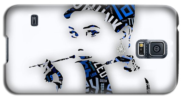 Audrey Hepburn Breakfast At Tiffany's Quotes Galaxy S5 Case by Marvin Blaine